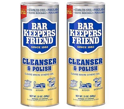 Bar Keepers Friend Multi Purpose Household Cleaner And Polish 21 OZ (2-Pack)