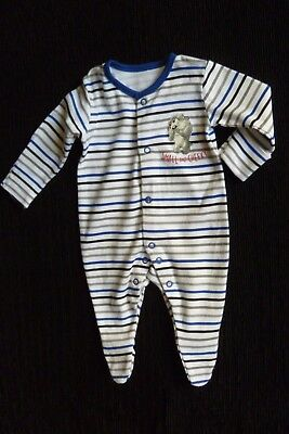 Baby clothes BOY newborn 0-1m Looney Tunes blue.grey,white stripe babygrow SHOP!