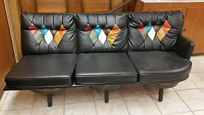 Vintage 1970's Brother's KY Whiskey Barrel Couch