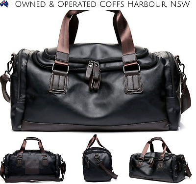 New Leather Vintage Cross Body Shoulder Duffel Gym Sports Overnight Travel Bag