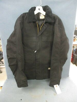 3a0032808 BERNE MENS BLACK 100% Cotton Chore Coat Size Small / Chest 36-38 ...