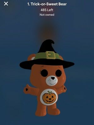 CARE BEARS TRICK OR SWEET BEAR 3D POP! #1 TRICK OR SWEET BEAR Quidd Digital