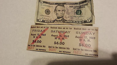 Vintage Looking 1969 Woodstock Music Festival  3-Day Ticket  Refrigerator Magnet