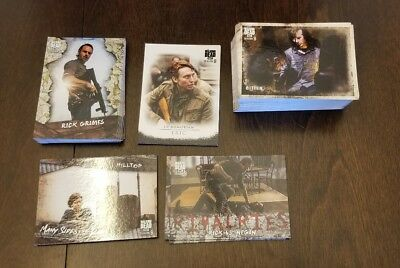 Topps Walking Dead Season 8 Part 1 Mini Master Set 134 cards total 1-90+4 insert