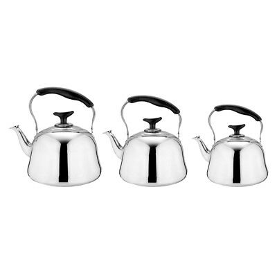 Stainless Steel Whistling Tea Kettle Tea Coffee Maker Pot Fishing Camping