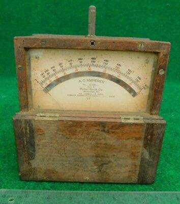 Roller - Smith Co. A. C. Ampere Meter   c.1900 Antique Electric Equipment