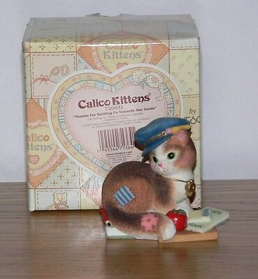 Calico Kittens Figurine 720631 Thanks For Guiding Us Towards Our Goals in Box