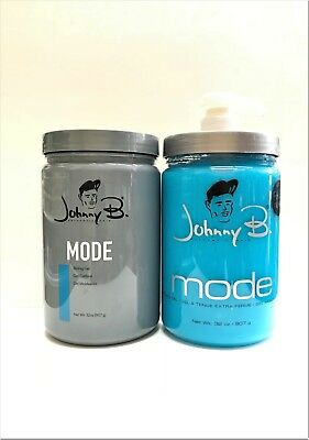 Johnny B Mode Styling Hair Gel 2 X 32oz Free Pump Included Non Alcoholic