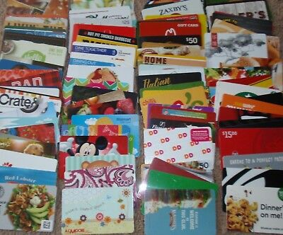 Collectible Gift Card - LOT of 101 Diff Cards - No Value - Each Card Pictured