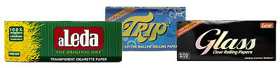 Luxe Glass , Trip2 , and Aleda King Size Clear Rolling Paper Bundle - 3 Items