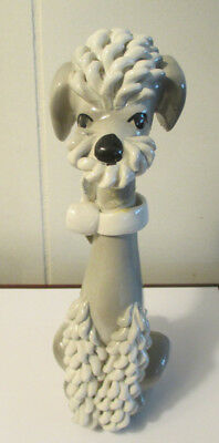 Gray / Grey Poodle Figurine Made in Italy