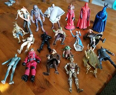Rare HTF star wars lot of 19 figures Yoda and more