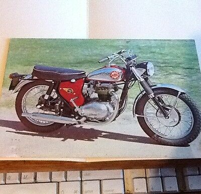 1960s BSA LIGHTNING 650cc MOTORCYCLE POST CARD