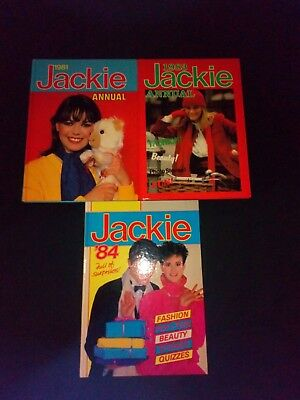 Jackie Annual's x 3 1981/1983/1984 Vintage Girls Stories Hardback Small Joblot