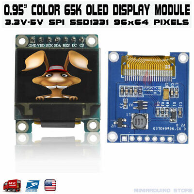 """0.95"""" inch SPI FULL Color OLED Display Module SSD1331 96x64 for Arduino RGB"""