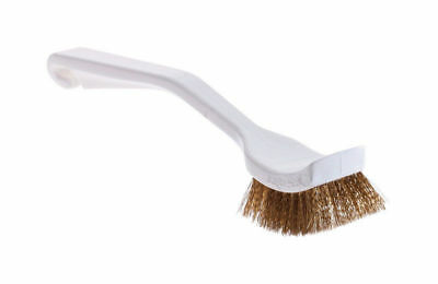 Rubbermaid Plastic Scrub Brush For Cookware 9 in. L Brass Bristles Scraper Edge