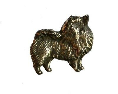 Handcrafted Bronze Keeshond Pendant Dog Jewelry Gifts