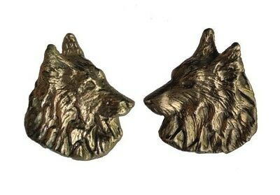 Handcrafted Belgian Tervuren Bronze Earrings Elizabeth Trail Design Dog Jewelry