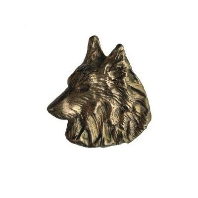 Handcrafted Belgian Sheepdog Bronze Pendant Dog Jewelry Gift by Elizabeth Trail
