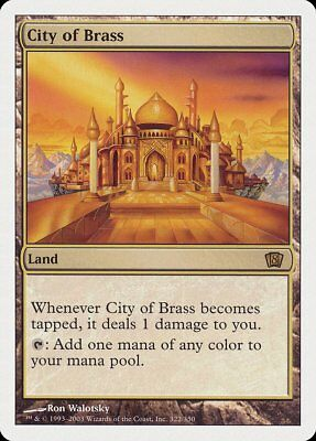 City of Brass 8th Edition NM-M Land Rare MAGIC THE GATHERING MTG CARD ABUGames