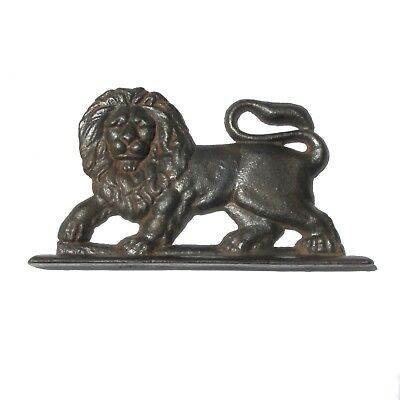 Antique Cast Iron Doorstop Lion Fireside Ornament