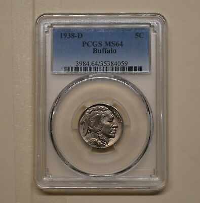 1938-D 5C Buffalo Nickel - PCGS MS-64 - The Last Year of Mintage - (4059)