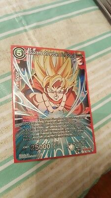 8199f10e9851a SUPREME SHOWDOWN SON Goku - TB2-002 - SR NM-Mint Dragon Ball Super World  Martial