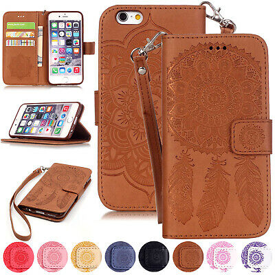 Windbell Pattern Leather Wallet Flip Case Cover For iPhone XS Max XR 7 8 Plus 6