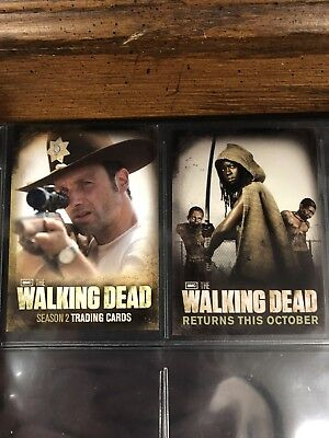 Walking Dead Season 2 Promo Card Set