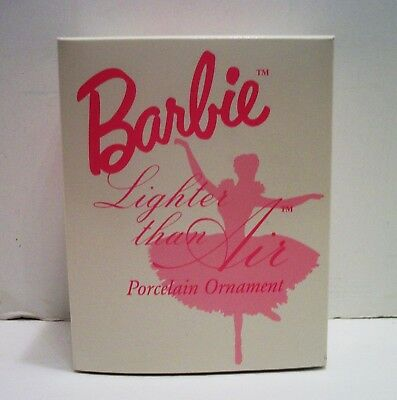 Barbie Porcelain Ornament By Avon Called ( Lighter Than Air ) Brand New