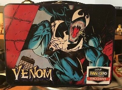 2018 Fan Expo Boston Exclusive Marvel Venom Aluminum Collectible Lunch Box