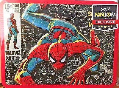 2017 Fan Expo Boston Exclusive Marvel Comics' Spider-Man Aluminum Lunch Box