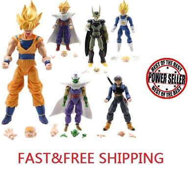 Lot 6Pcs Dragonball Z Dragon ball DBZ Goku Piccolo Action Figure Toy Set Anime