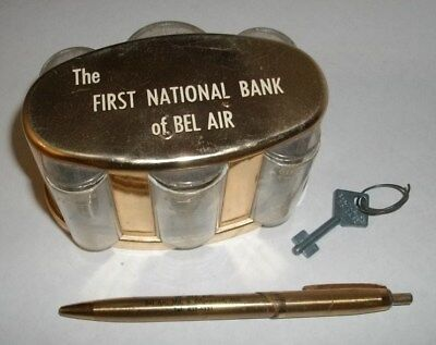 1960's BANTHRICO ADVERTSING FIRST NATIONAL BANK BEL AIR MARYLAND MD COIN W/ KEY