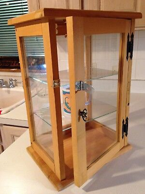 Wood and Glass Collectables Display Cabinet Solid