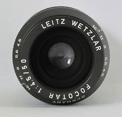LEITZ WETZLAR - FOCOTAR - f/4.5 - 50mm Enlarging Lens - LEICA SCREW MOUNT