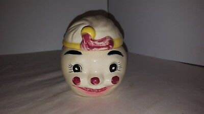 Vintage Anthropomorphic MUSTARD JELLY JAM CONDIMENT JAR MADE IN JAPAN
