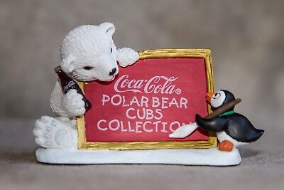 "☆☆COCA-COLA BEAR☆☆ Heritage Collection, Cavanaugh ""Polar Bear Cub sign"" 1996 NOS"