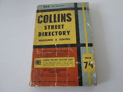 Collins Melbourne & Suburbs Street Directory 1964 Maps