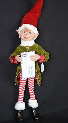 Christmas Elf - 60cm Tall. Red & Green