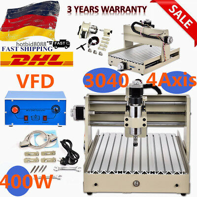 400w Spindle CNC 3040T 4 axis Router Engraver Milling Drilling Machine DHL