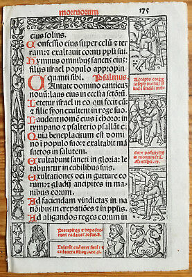 Decorative Leaf Book of Hours Woodcut Border Venice Stagnini (175) - 1518