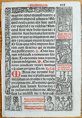 Decorative Leaf Book of Hours Woodcut Border Venice Stagnini (159) - 1518