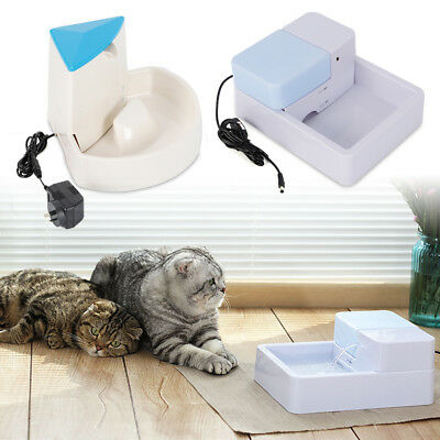 1.8L/2.5L Automatic Electric Pet Water Fountain Dog/Cat Drinking Bowl W/ Filter