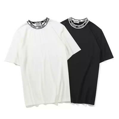 f61dc71c47c9 2018 Palace Letters Collar Unisex Round Neck Cotton T-Shirts Summer Casual  Tops