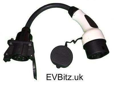 ADP7 - Type 1 (J1772) to Type 2 EV Electric Vehicle Charging Adapter 800g