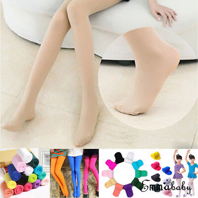 Girls Kids Tights Opaque Pantyhose Ballet Dance Socks Stocking Hosiery 9 Colors
