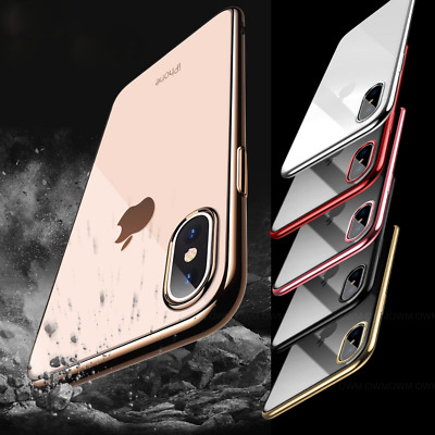 Luxury Slim Shockproof Silicone Clear Case Cover for Apple iPhone XS XS MAX XR