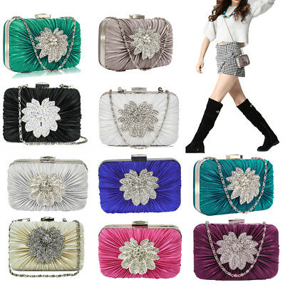 Floral Wedding Ladies Evening Handbag Wedding Party Clutch Bag Women Purse UK