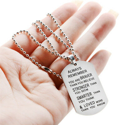 Always Remember You Are Braver Than You Believe Hot Jewelry Pendant Necklace EO